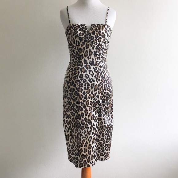 f8d6aad050 Cache Dresses   Skirts - Cache Leopard Animal Print Wiggle Fitted Dress 2